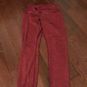 Lululemon red high-rise leggings